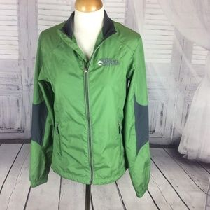 College World Series CWS Green Warm Up Jacket Med